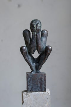 """""""The man without a rod F"""" Bronze Sculpture Edition 2/9 by Sergii Shaulis"""