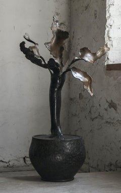 """Young Flower Nr. 1"" Sculpture 41"" x 24.5 ""x 13"" inch Ed. 1/8 by Sergii Shaulis"