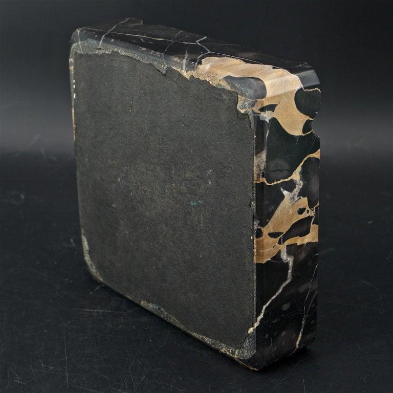 1950s Palmaria Island Black Gold Marble Cigar Ashtray in style of Sergio Asti  For Sale 1