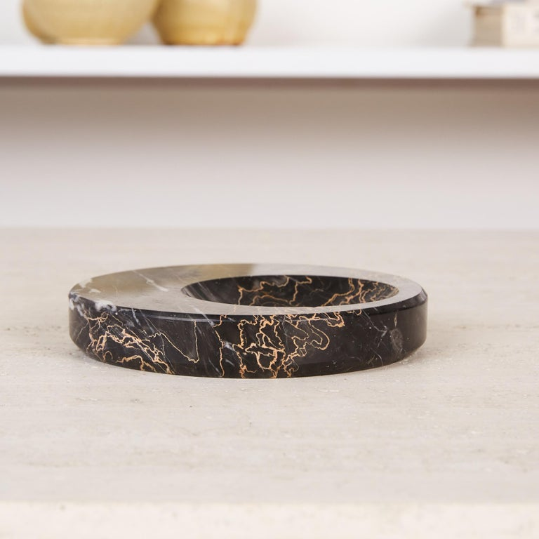 Sergio Asti Style Nero Marquina Marble Bowl For Sale 4
