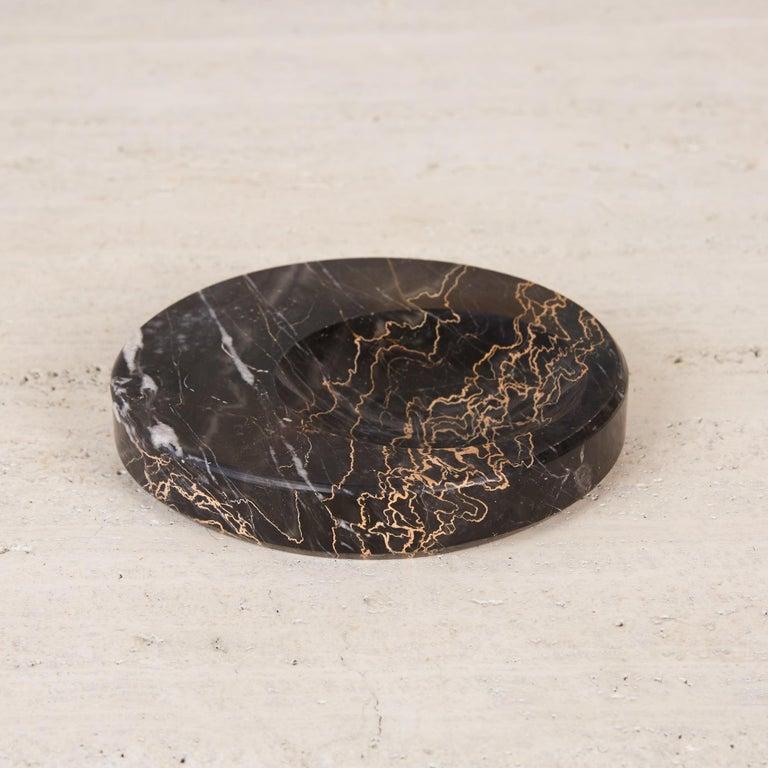 Sergio Asti Style Nero Marquina Marble Bowl For Sale 1