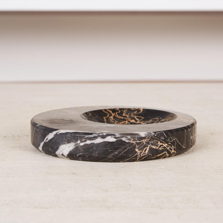 Sergio Asti Style Nero Marquina Marble Bowl For Sale 3