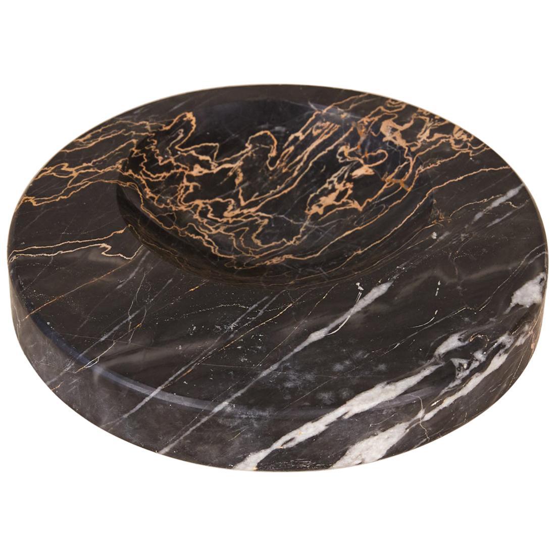 Sergio Asti Style Nero Marquina Marble Bowl