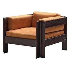 Sergio Asti 'Zelda' Lounge Chair in Cognac Leather