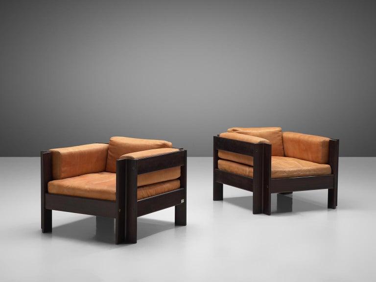 Mid-20th Century Sergio Asti 'Zelda Lounge Set in Cognac Leather For Sale