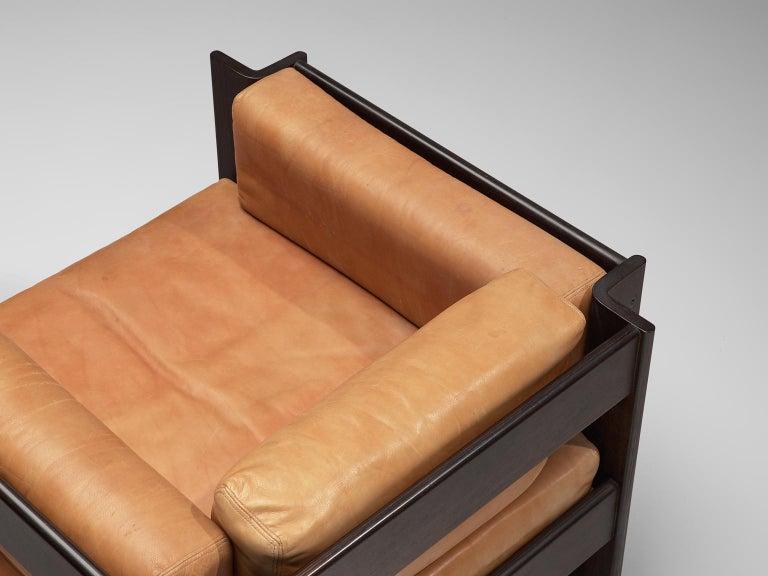 Sergio Asti 'Zelda Lounge Set in Cognac Leather For Sale 2