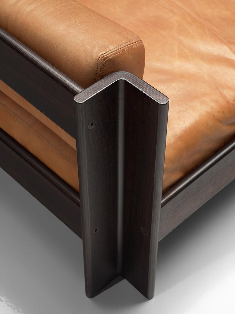 Sergio Asti 'Zelda Lounge Set in Cognac Leather For Sale 3