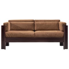 Sergio Asti 'Zelda' Two-Seat Sofa with Taupe Fabric
