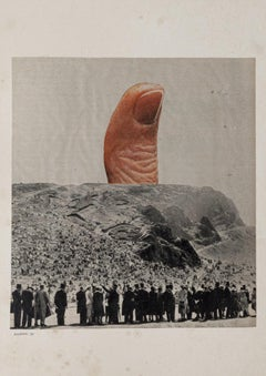 Collage - Original Collage by Sergio Barletta - 1975