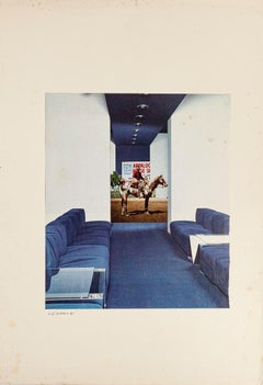 Composition - Original Collage by by Sergio Barletta - 1975