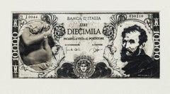 Diecimila Lire - Original Mixed Media by Sergio Barletta - 1980s