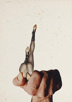 Hatred - Original Collage by Sergio Barletta - 1975