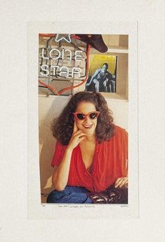 Lone Star - Original Collage by Sergio Barletta - 1987
