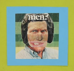 Men? - Original Photo-Lithograph and Collage by S. Barletta - 1970s