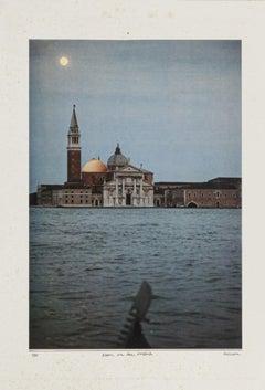 Moon on the Casbah - Original Collage by Sergio Barletta - 1983
