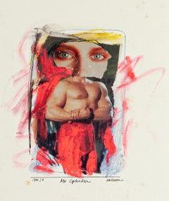 Mr. Ophelia - Original Collage and Tempera by Sergio Barletta - 1986