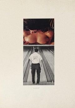 Player - Original Collage by Sergio Barletta - 1975