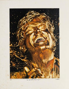 The Eye Eater Pop Singer - Original Collage by Sergio Barletta - 1981