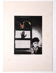 The Hand - Original Photo Applied on Cardboard by Sergio Barletta - 1965