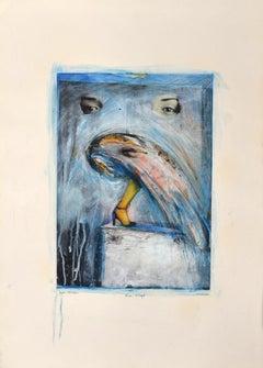 The Sigil - Original Mixed Media by Sergio Barletta - 1987