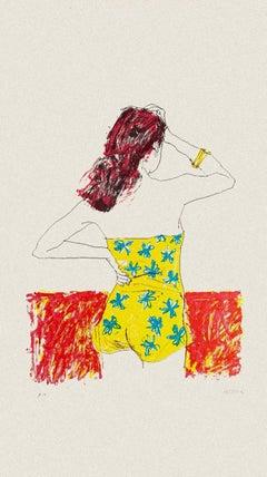 Bather - Original Lithograph by Sergio Barletta - 1980s