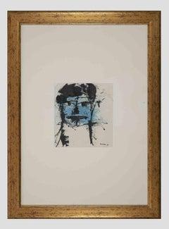 Blue Face - Original Lithograph by Sergio Barletta - 1960