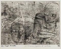 Figures - Original Etching by Sergio Barletta - 1959