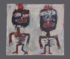 Figures - Original Mixed Media Painting by Sergio Barletta - 1960