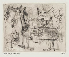 Homage to Paul Klee - Original Etching by Sergio Barletta - 1960
