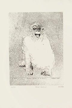 Homo Ludens - Original Etching by Sergio Barletta - 1991