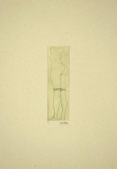 Maiden - Original Etching by Sergio Barletta - 1970s