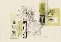 Nude and Hand - Original Lithograph by Sergi Barletta - 1970s