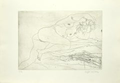 Nude - Original Etching by Sergio Barletta - 1975 ca