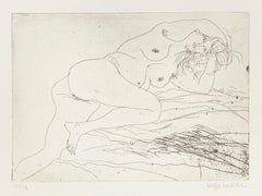Nude - Original Etching by Sergio Barletta - 20th Century