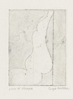 Nude - Original Etching by Sergio Barletta - 20th Century