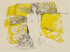 Nude - Original Lithograph by Sergio Barletta - 1980s
