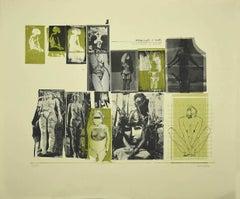 Nude - Original Lithograph on Paper by Sergio Barletta - 1970s