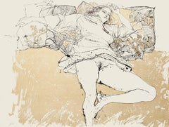Nude - Original Lithograph on Paper by Sergio Barletta - 1980