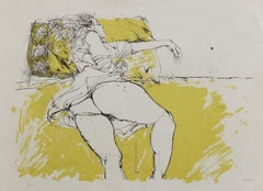 Nude - Original Lithography by Sergio Barletta - 1980s