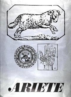Segno Zodiacale Ariete - Original Screen Print by Sergio Barletta - 1973