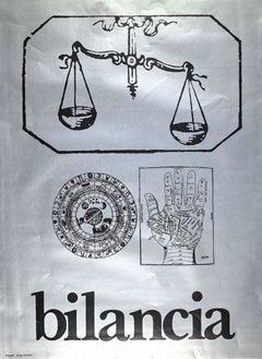 Segno Zodiacale Bilancia - Original Screen Print by Sergio Barletta - 1973