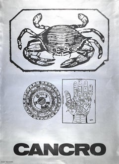 Segno Zodiacale Cancro - Original Screen Print by Sergio Barletta - 1973