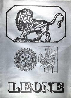 Segno Zodiacale Leone - Original Screen Print by Sergio Barletta - 1973