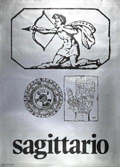 Segno Zodiacale Sagittario - Original Screen Print by Sergio Barletta - 1973