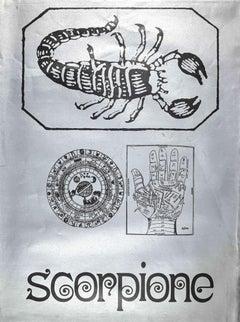Segno Zodiacale Scorpione - Original Screen Print by Sergio Barletta - 1973