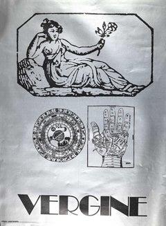 Segno Zodiacale Vergine - Original Screen Print by Sergio Barletta - 1973