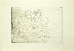 The Couple - Original Etching by Sergio Barletta - 1975 ca