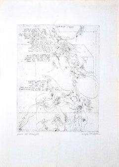 The Death of Print - Original Etching by Sergio Barletta - 1970s