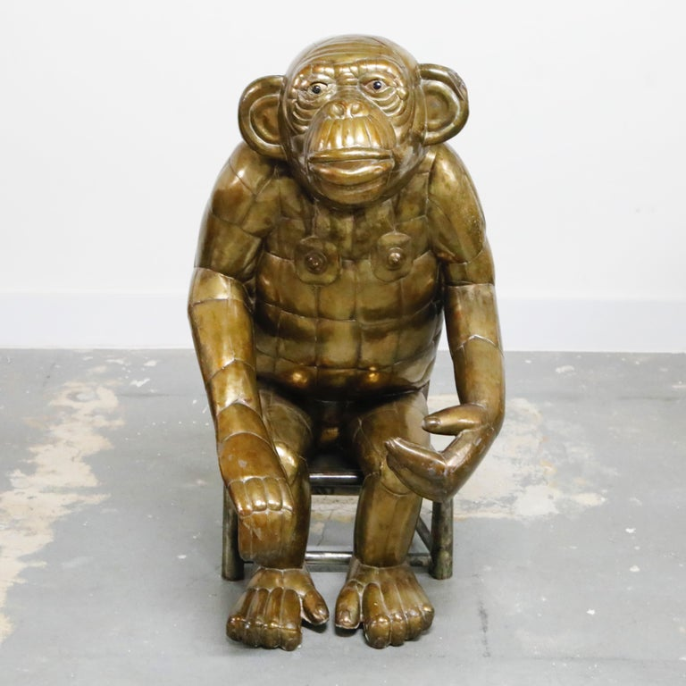 That funky monkey... this incredible and very wild brass monkey sculpture (43