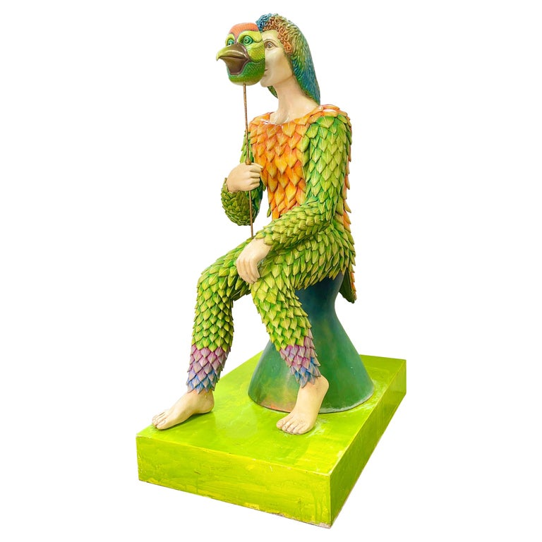 "Sergio Bustamante ""Birdman"" Life-Size Sculpture For Sale"